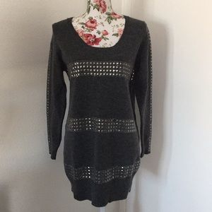 BCBG Maxazria Sweater Tunic Studded  Wool